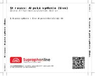 Zadní strana obalu CD Strauss: Alpská symfonie (Live)