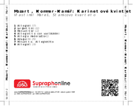 Zadní strana obalu CD Mozart, Krommer-Kramář: Klarinetové kvintety