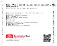 Zadní strana obalu CD Eben: Vox clamantis, Varhanní koncert, Missa cum populo