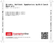 Zadní strana obalu CD Stamic, Voříšek: Symphonies by Old Czech Masters