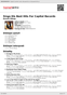 Digitální booklet (A4) Sings His Best Hits For Capitol Records