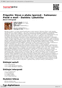Digitální booklet (A4) Prigožin: Slovo o pluku Igorově - Salmanov: Písně o moři - Dambis: Labutička
