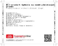 Zadní strana obalu CD Dittersdorf: Symfonie na náměty Ovidiových proměn