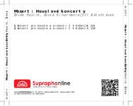 Zadní strana obalu CD Mozart: Houslové koncerty