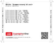 Zadní strana obalu CD Bach: Temperovaný klavír