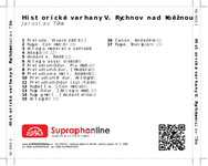 Zadní strana obalu CD Historické varhany V. Rychnov nad Kněžnou