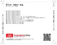Zadní strana obalu CD Bach: Umění fugy
