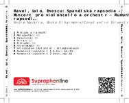 Zadní strana obalu CD Ravel, Lalo, Enescu: Španělská rapsodie - Koncert pro violoncello a orchestr - Rumunské rapsodie