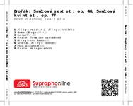 Zadní strana obalu CD Dvořák: Smyčcový sextet, op. 48, Smyčcový kvintet, op. 77