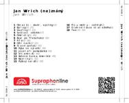 Zadní strana obalu CD Jan Werich (ne)známý