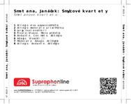 Zadní strana obalu CD Smetana, Janáček: Smyčcové kvartety