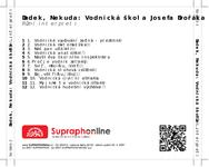Zadní strana obalu CD Dudek, Nekuda: Vodnická škola Josefa Dvořáka