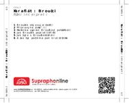 Zadní strana obalu CD Karafiát: Broučci