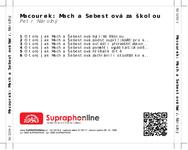 Zadní strana obalu CD Macourek: Mach a Šebestová za školou