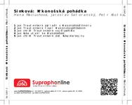 Zadní strana obalu CD Šimková: Krkonošská pohádka