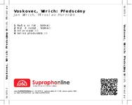 Zadní strana obalu CD Voskovec, Werich: Předscény