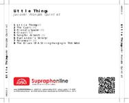 Zadní strana obalu CD Little Things