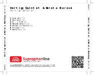 Zadní strana obalu CD Vertigo Quintet & Dorota Barová