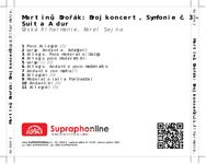 Zadní strana obalu CD Martinů, Dvořák: Dvojkoncert, Symfonie č. 3 - Suita A dur