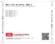 Zadní strana obalu CD Martinů: Ariadna. Opera