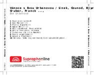 Zadní strana obalu CD Vánoce s Evou Urbanovou / Linek, Gounod, Biyet, Gruber, Franck ...,