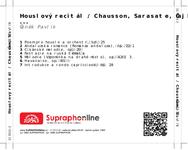 Zadní strana obalu CD Houslový recitál / Chausson, Sarasate, Čajkovskij ...