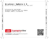 Zadní strana obalu CD Bruckner: Symfonie č. 9