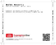 Zadní strana obalu CD Dvořák: Koncerty