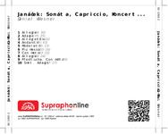 Zadní strana obalu CD Janáček: Sonáta, Capriccio, Koncert...