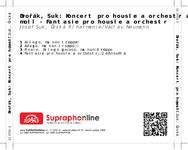 Zadní strana obalu CD Dvořák, Suk: Koncert pro housle a orchestr a moll - Fantasie pro housle a orchestr