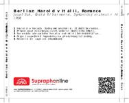 Zadní strana obalu CD Berlioz: Harold v Itálii, Romance