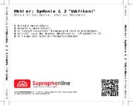 """Zadní strana obalu CD Mahler: Symfonie č. 2 """"Vzkříšení"""""""