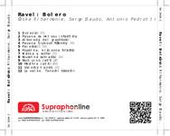 Zadní strana obalu CD Ravel: Bolero