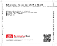 Zadní strana obalu CD Schönberg, Haas: Verklärte Nacht