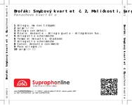 Zadní strana obalu CD Dvořák: Smyčcový kvartet č. 2, Maličkosti, Largo