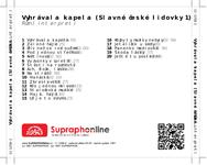 Zadní strana obalu CD Vyhrávala kapela (Slavné české lidovky 1)
