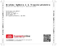 Zadní strana obalu CD Brahms: Symfonie č. 3, Tragická předehra