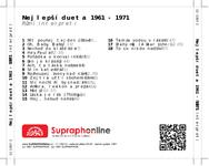 Zadní strana obalu CD Nejlepší dueta 1961 - 1971