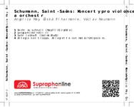 Zadní strana obalu CD Schumann, Saint-Saëns: Koncerty pro violoncello a orchestr