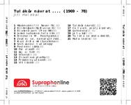 Zadní strana obalu CD Tulákův návrat.... (1969 - 78)