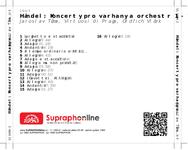 Zadní strana obalu CD Händel: Koncerty pro varhany a orchestr 1 - 12