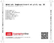 Zadní strana obalu CD Koželuh: Smyčcové kvartety 1-3, op. 32