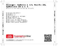 Zadní strana obalu CD Honegger: Symfonie č. 1-5, Pacific 231, Symfonická věta č. 3