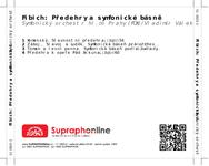 Zadní strana obalu CD Fibich: Předehry a symfonické básně