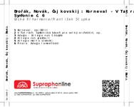 Zadní strana obalu CD Dvořák, Novák, Čajkovskij: Karneval - V Tatrách - Symfonie č. 6