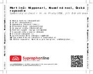 Zadní strana obalu CD Martinů : Nipponari, Kouzelné noci, Česká rapsodie
