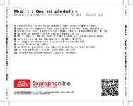 Zadní strana obalu CD Mozart: Operní předehry