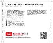 Zadní strana obalu CD Claire de lune / Houslové přídavky