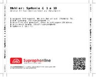 Zadní strana obalu CD Mahler: Symfonie č. 1 a 10