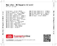 Zadní strana obalu CD Rejcha: 36 fug pro klavír